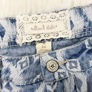 Altar'd State Shorts - Alter'd State Southwest Print Denim Cut Off Shorts